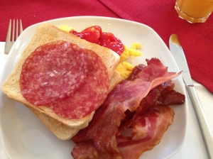 Unlimited bacon during breakfast!